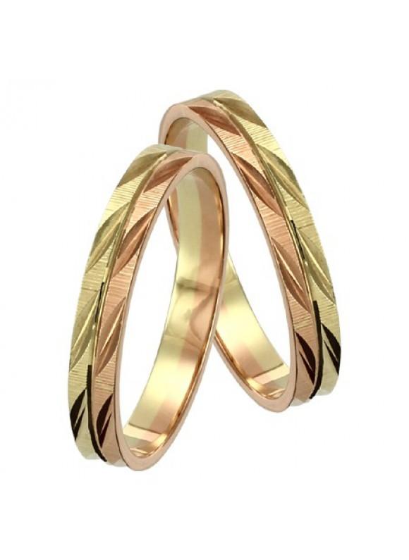 Zlaté svadobné obrúčky 099