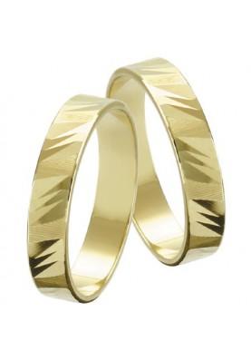 Zlaté svadobné obrúčky 010