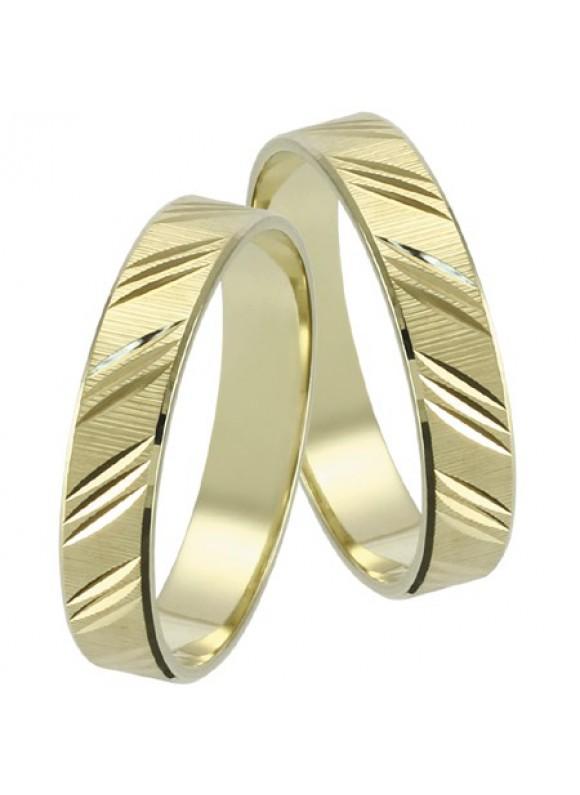 Zlaté svadobné obrúčky 045