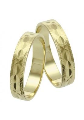 Zlaté svadobné obrúčky 050